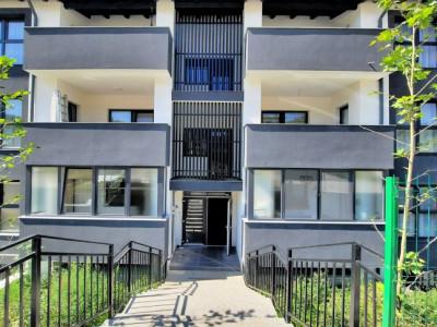 Apartament cu 2 camere, finisat, 57,7 mp, demisol, Apahida.