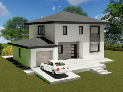 Casa unifamiliala 120 mp util, teren 500 mp, strada Ciprian Porumbescu, Chinteni